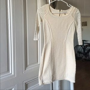Cream Sweater dress from Anthropologie